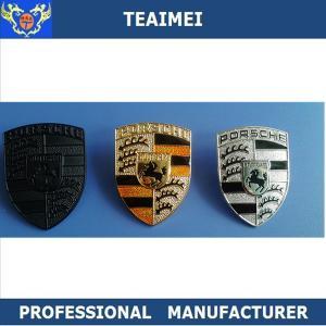 Quality Porsche Chrome / Carbon Fiber Car Front Grill Emblems / Car Name Badges for sale