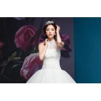 China Graceful Diamond Halter Neck Wedding Dresses with Sweep Train for Summer , spring , winter wholesale