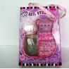 China Pink sticker Fake Nails Art Kit , Top Coat Nail Polish Manicure Stick wholesale