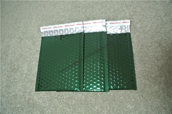 "Quality Acid Resistant Metallic Bubble Mailers Metallic Green Envelope 7.25""X8"" #CD Size for sale"