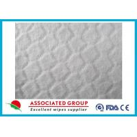 Anti Static White Spunlace Nonwoven Fabric For Wet Wipes , Customzied size