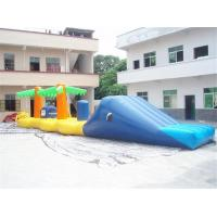China Aqua Jump Inflatable Water Parks / Inflatable Water Island Waster Slide wholesale