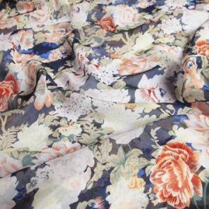 China Printed chiffon fabric for women dress wholesale