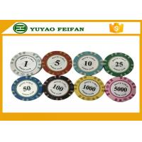China 13.5 Gram Crown Monte Carlo Casino Poker Chips With Pantone Color 40x3.3mm wholesale
