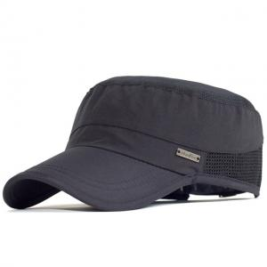 China Outdoor Sport Quick Drying Military Cadet Cap Men Breathable Army Flat Top Hat wholesale