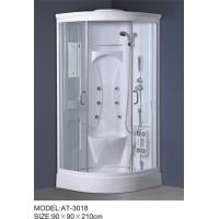 China White quadrant shower enclosure with hinged door ABS Material Bathtub wholesale