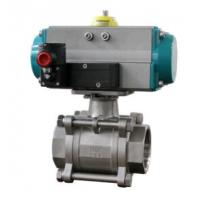 China Ball valve with pneumatic rotary actuators double acting and spring return wholesale