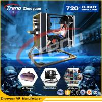 China Black 720°Motion VR Theme Park  Studio Game With Simulation Drive Cabin wholesale