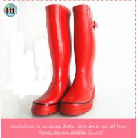 China Red High Quality Rubber Rain Boot,Womens Wellies Shoes,Wellington Boots,Gum Boots,Rain Shoes on sale