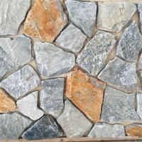 China Grey Rust Random Loose Natural Stacked Stone Irregular For Landscaping wholesale