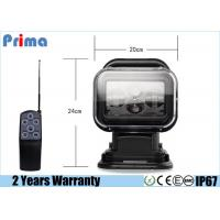 China 60W CREE LED Portable Search Lights , 5040lm Marine Remote Spotlight  wholesale