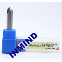 China Carbide Chamfer Tool Milling Machine End Mills , 8mm Diameter 90 Degree Milling Cutter wholesale