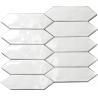 China Residential Wall Backsplash Ceramic Subway Tile White Bevel Size 75x150mm wholesale