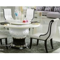 China club 8 persons round marble table with Lazy Susan wholesale