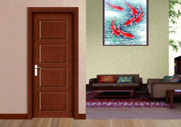 Quality Four Panel Commercial Flush Door , Hotel Apartment Flush Veneer Internal Doors for sale