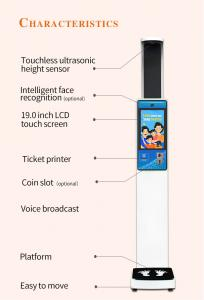 China large lcd display body weight and height scale with rs232 serial port wholesale