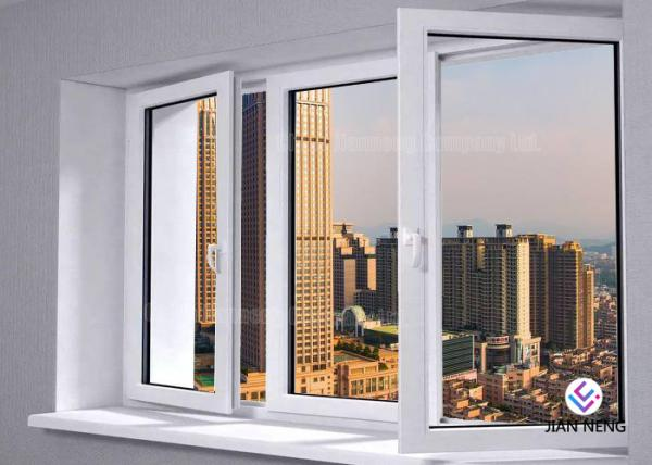 Quality Outward / Inward Open Aluminum Casement Windows , Clear Tempered Glass Window for sale