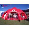 China Barraca inflável gigante vermelha da aranha com as 8 barracas do partido do PVC dos pés para o aluguel wholesale