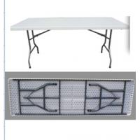 China sell HDPE 8 foot folding table furniture/outdoor 8 ft rectangle plastic foldable table wholesale