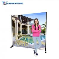 China 10x8 Ft Stand Trade Show Booth Backdrop Telescopic Adjustable Flat Straight wholesale