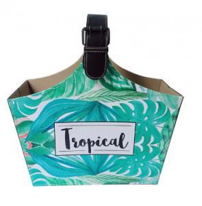 China Green Letter Design OEM accept fruit storage Basket Bag Fashion Vintage Bucket Shopping Handbag Basket wholesale