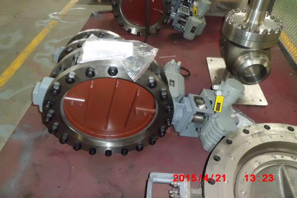 Quality Carbon Steel Pneumatic Piston High Temp Butterfly Valve0.4 MPa Air Pressure for sale