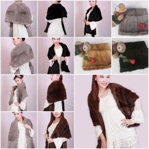 Mink Fur Poncho Fur Cape Fur Scarves Mink Fur Scarf Mink Fur Wraps Mink Fur Shawl 3 Colors
