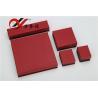 China Los joyeros rojos del papel especial fijados modificaron el logotipo para requisitos particulares para el almacenamiento de la joyería wholesale