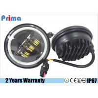 China 30W Cree 4.5 Inch Motorcycle LED Headlights With Angel Eye Halo Ring wholesale