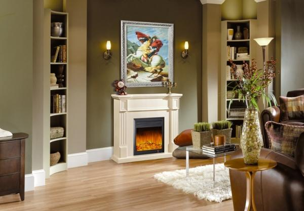 Contemporary home decor images for European homes fireplaces