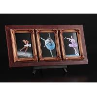 """China 3 - Openings 4""""x6"""" Wooden Tabletop multi collage photo frame With An Individual Shelf wholesale"""