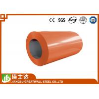 China Orange Green Offering Prime Color Coated Steel Coil With Polyester / PE Coating wholesale