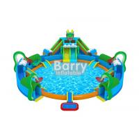 China 30 * 20 M Hawaii Themed Mini Inflatable Water Park With Big Swimming Pool on sale