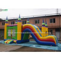 China 5 In 1 Inflatable Bounce House With Slide , Outdoor Commercial Jumping Castles wholesale
