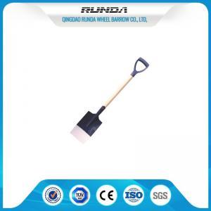 Quality Wooden Handle Steel Spade Shovel S512 , Hole Digging Spade Flat Nose Multi for sale