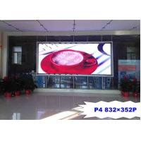 China High Resolution P4 Indoor Full Color LED Screen Iron / Steel For Advertising wholesale