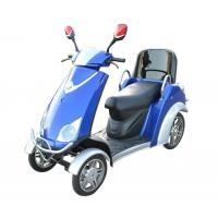 China Comfortable 4 Wheel Power Scooters Blue Battery Operated Scooter With Four Wheels wholesale