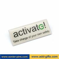 Buy cheap ADDGIFTS name badges painting logo free design with customized size 7days delivery from wholesalers