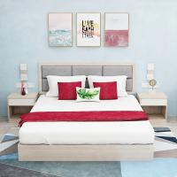 China Comfortable Hotel Bedroom Furniture Sets with Double Bed Modern Style wholesale