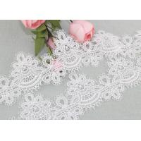 China 6cm Width Water Soluble Lace Polyester Lace For Clothing Azo Free wholesale