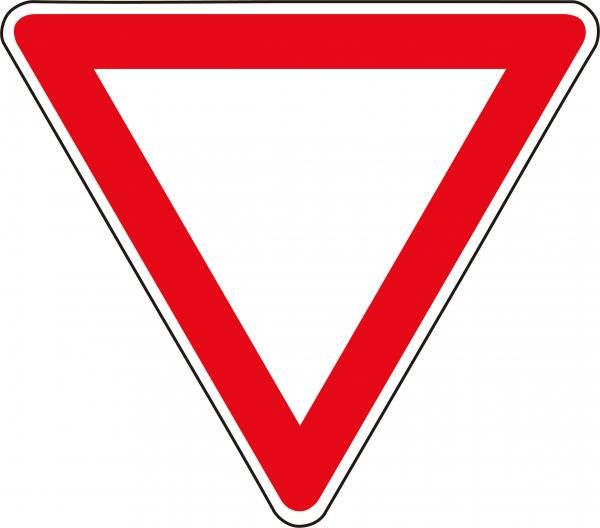 Eco  Solvent Printing Red Triangle Road Traffic Signs And Symbols