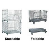 China Full Welding Mobile Mesh Storage Cage Easy Operation 1000 * 800 * 840mm wholesale