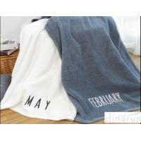 China Large Terry Plain Colored 550 Gsm Cotton Bath Towels For Adults , Creative Month Design wholesale