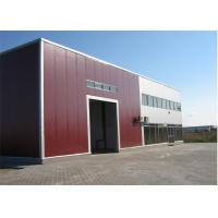 Metal Sheet Prefabricated Steel Structures Workshop With Insulation Wall