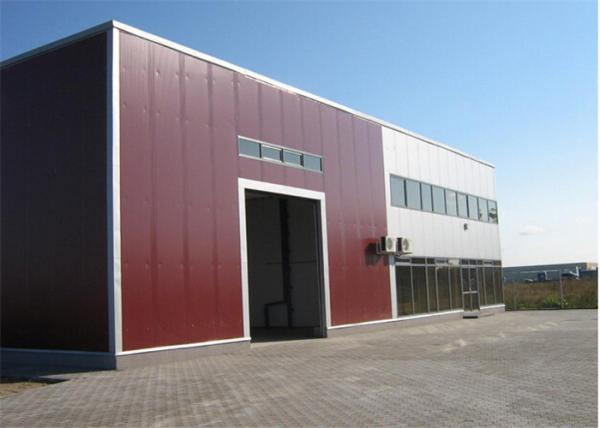 Quality Metal Sheet Prefabricated Steel Structures Workshop With Insulation Wall for sale
