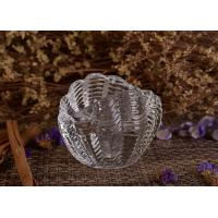Creative Shell Shape Clear Glass Candle Holders Bulk Customized Design