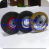 Crimped wire wheel brush for machine