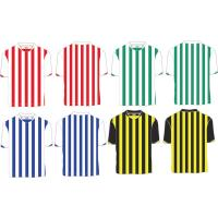 China Custom Polyester Striped Soccer Jersey, Person Football Shirt ,Quickly Dry Football Shirts on sale