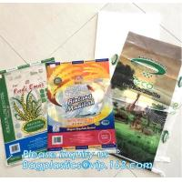China Custom recyclable kraft paper laminated pp woven food packaging bag with logo printing,25kg 20kg urea fertilizer packagi on sale
