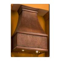 China Pure Copper Wall Mount Kitchen Range Hoods Coffee Color For Restaurants wholesale